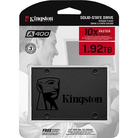 SSD Kingston A400 Leitura 500MB/s Gravação 450MB/s 1.92TB