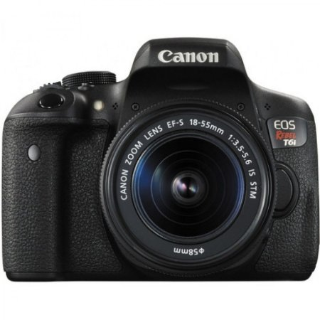 Câmera Canon EOS Rebel T6i com Lente 18-55mm f/4-5.6 IS STM