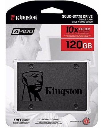 SSD Interno Kingston A400 SATA Leitura 500MB/s Gravação 320MB/s SA400S37 120GB