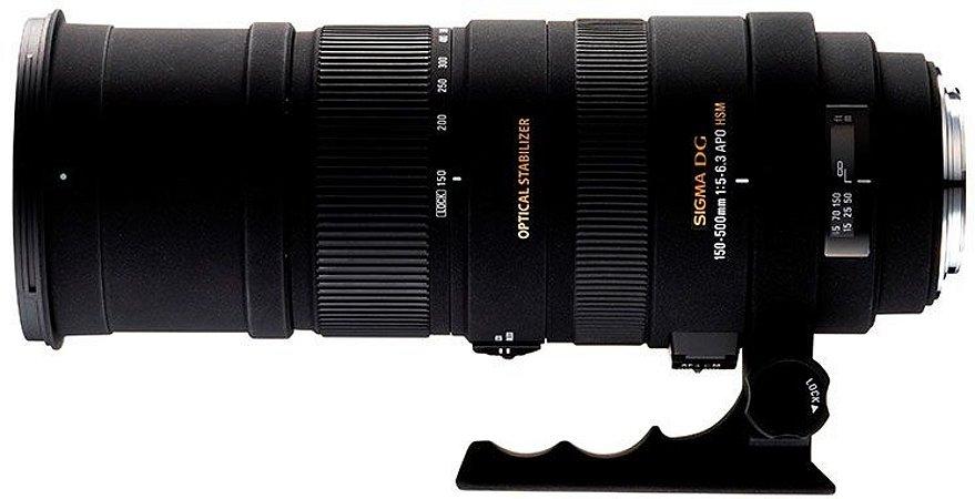 Lente Sigma DG 150-500mm f/5-6.3 para Nikon