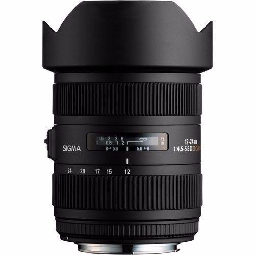 Lente Sigma DG 12-24mm f/4.5-5.6 para Canon