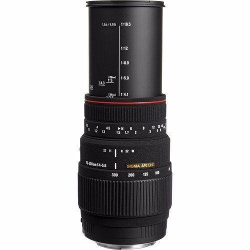 Lente Sigma DG 70-300mm f/4-5.6 APO Macro para Nikon