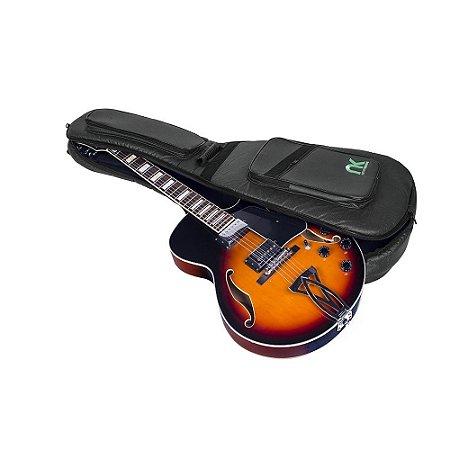 Capa Bag Guitarra Semi Acústica Couro Reconstituído Preto NewKeepers