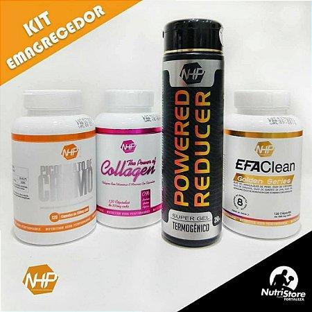 SUPER KIT EMAGRECEDOR - Gel termogênico + Efa Clean + Picolinato de cromo + Colágeno