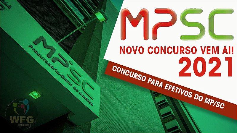 CURSO ONLINE - MP/SC - TÉCNICO E ANALISTA  (( COMISSÃO DO CONCURSO FORMADA EDITAL 2021 ))