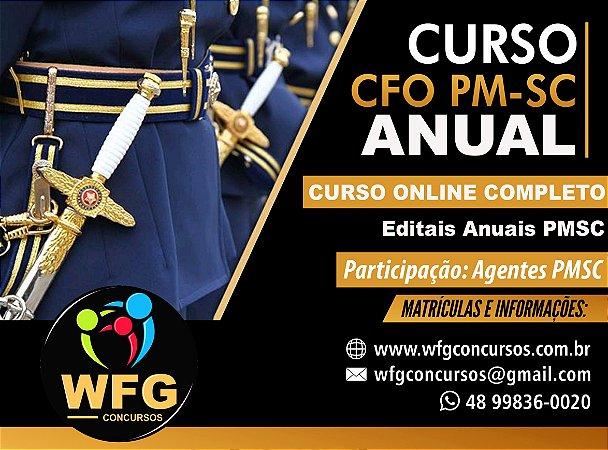 CURSO ONLINE ANUAL  PRÉ E PÓS-EDITAL - CFO PM-SC 2020/21 - Participação Agentes e Oficiais da PMSC (( PROMOÇÃO FIM DE ANO ))