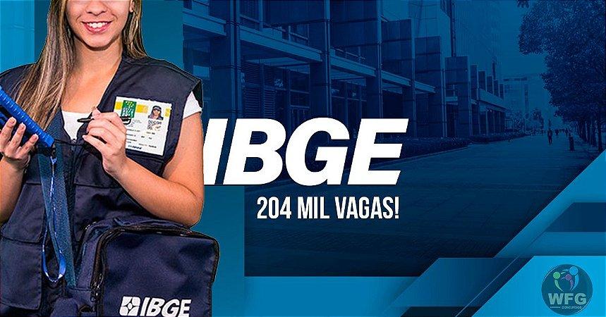 CONCURSO IBGE 2021 - CURSO ONLINE - RECENSEADOR - AGENTE E SUPERVISOR (Liberado até a prova)