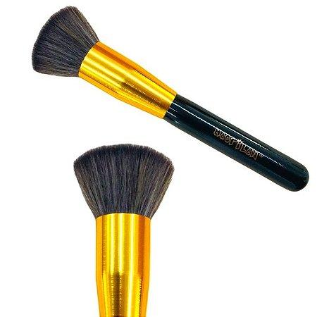Pincel Kabuki Reto Macrilan G115 Qualidade Profissional