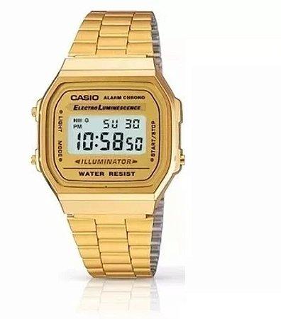 b9123f46a92 Relógio Cásio retrô Dourado - Feitosa´s