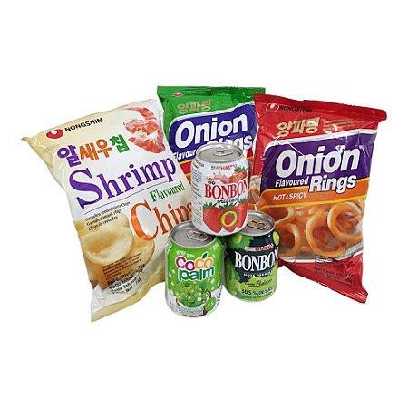 Kit Snacks e Sucos Coreanos (Sucos Haitai e Salgadinhos)