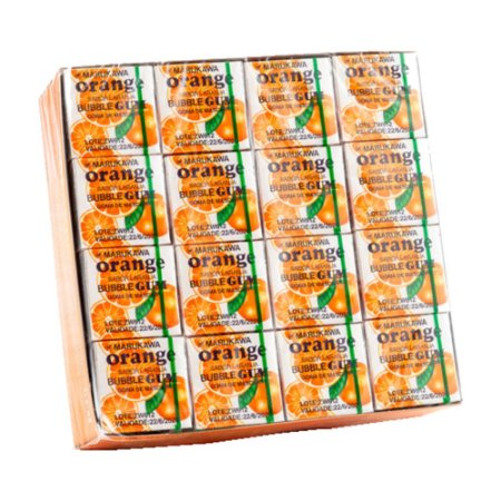 Chiclete Marble Gum Orange 4ball 5,35g - Marukawa