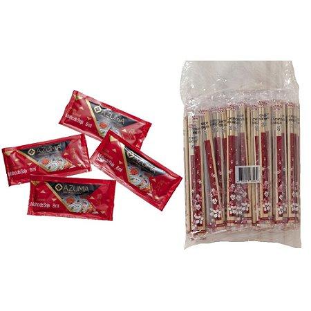 Sache Shoyu Tradicional Azuma Kirin + Hashi de Bambu