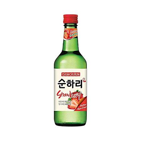 Soju Coreano Morango 360ml - Chum Churum Lotte