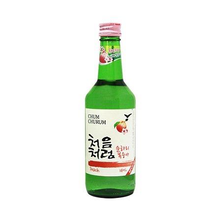 Soju Coreano Pêssego 360ml - Chum Churum Lotte