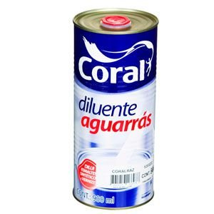 Diluente Aguarras Coral 0,900ml