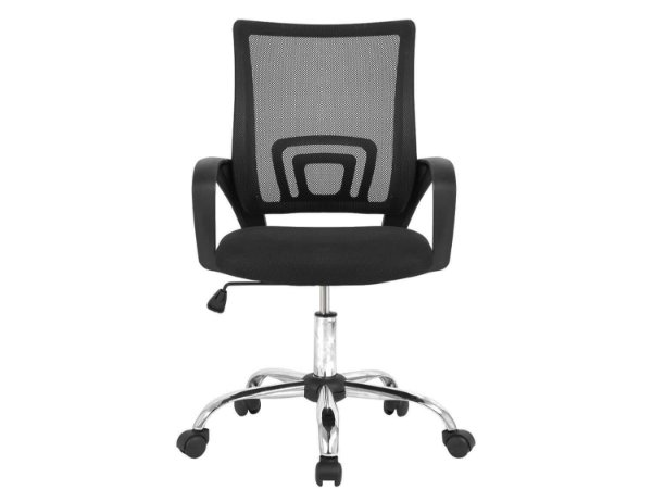Cadeira de Escritorio Giratoria com Base Cromada- Marca Akordar