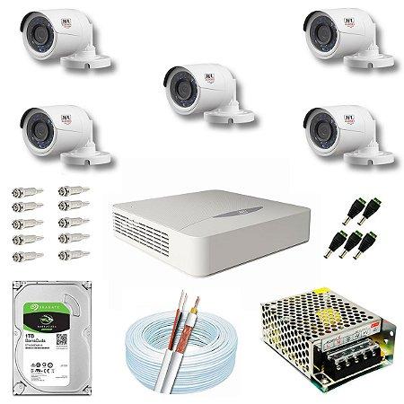 Kit CFTV JFL 05 Câmeras CHD-1130P e DVR de 08 Canais DHD-2108N