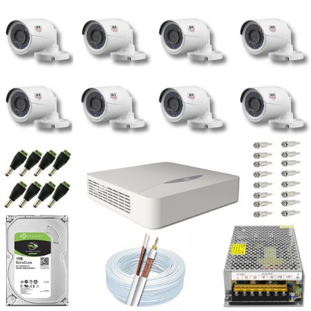 Kit CFTV JFL 08 Câmeras CHD-2230P e DVR de 08 Canais DHD-2108N