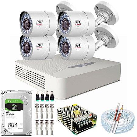 Kit CFTV JFL 04 Câmeras CHD-2110P e DVR de 08 Canais DHD-3308