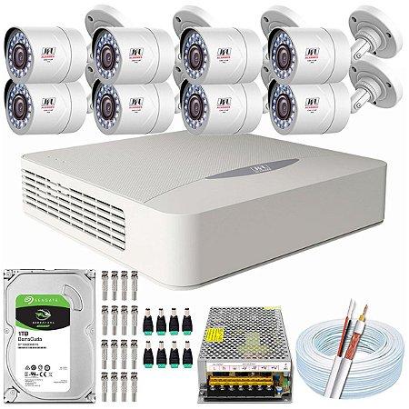Kit CFTV JFL 08 Câmeras CHD-2110P e DVR de 16 Canais DHD-3316
