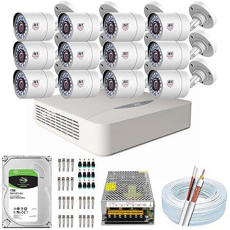 Kit CFTV JFL 12 Câmeras CHD-2110P e DVR de 16 Canais DHD-3316