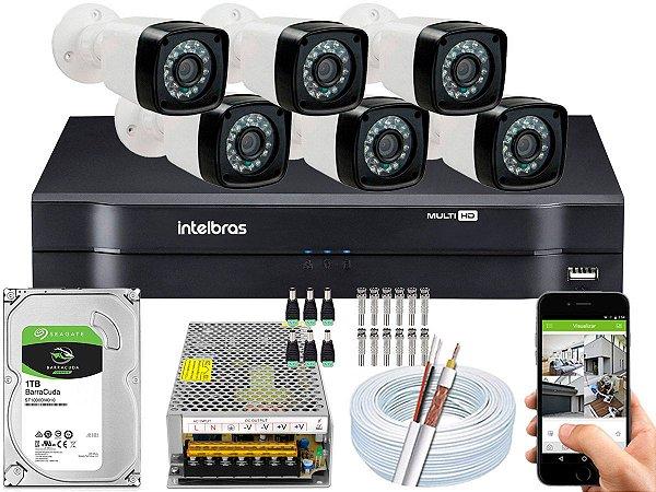 Kit CFTV 06 Câmeras EJCF-3200 e DVR de 08 Canais MHDX 1108 10A