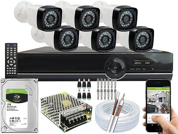 Kit CFTV 06 Câmeras EJCF-3200 e DVR de 08 Canais EJCF-9008T