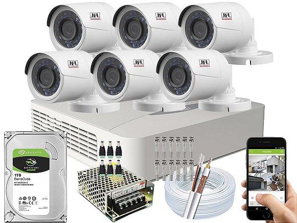 Kit CFTV JFL 06 Câmeras CHD-2230P e DVR de 08 Canais DHD-3308