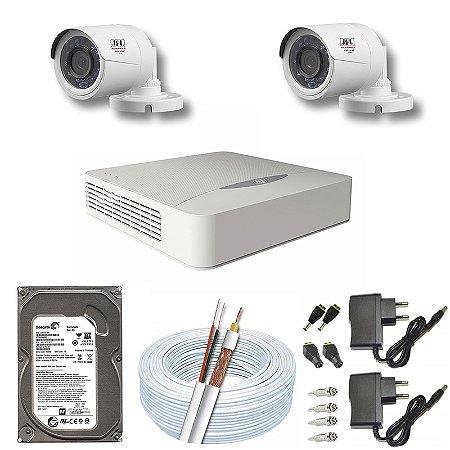 Kit CFTV JFL 02 Câmeras CHD-2230P e DVR de 04 Canais DHD-2104N 500GB