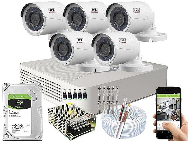 Kit CFTV JFL 05 Câmeras CHD-2230P e DVR de 08 Canais DHD-3308