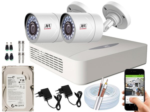 Kit CFTV JFL 02 Câmeras CHD-2110P e DVR de 04 Canais DHD-3304 500GB