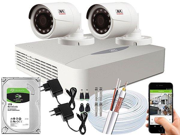 Kit CFTV JFL 02 Câmeras CHD-1230P e DVR de 04 Canais DHD-2104N