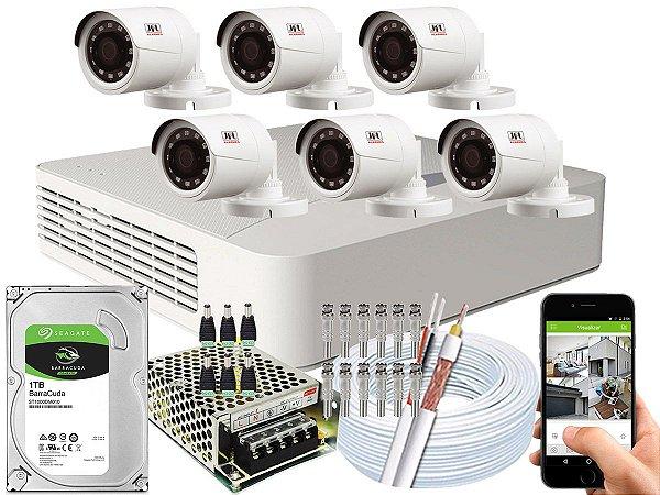 Kit CFTV JFL 06 Câmeras CHD-1230P e DVR de 08 Canais DHD-2108N