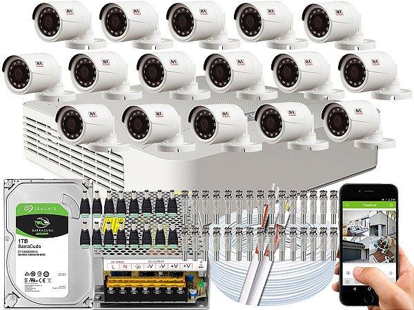 Kit CFTV JFL 16 Câmeras CHD-1230P e DVR de 16 Canais DHD-2116N
