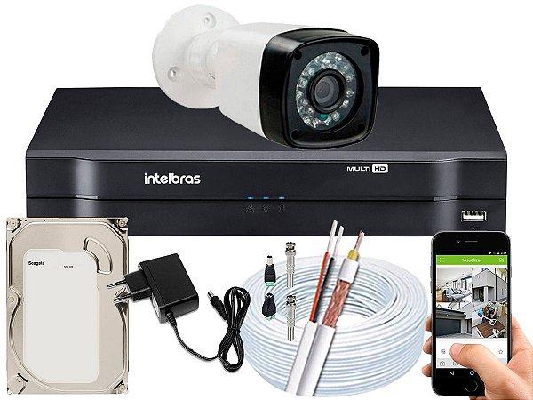 Kit CFTV 01 Câmera Importada e DVR de 04 Canais MHDX 1104 500GB