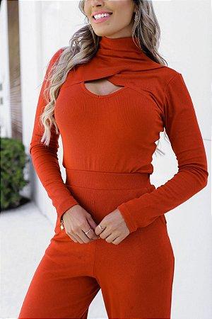 Blusa canelada trasnparente Enya