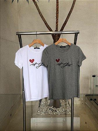 T-Shirt Coração de vidro Mamô