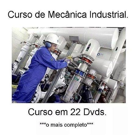 Curso de Mecânica Industrial Completo, em 22 Dvds, Frete Grátis e Envio Imediato.