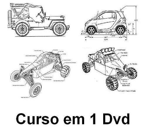 DVD com Mais de 50 Projetos de Kart Cros, Veículos Off Road, Barcos, Tratores, Jipes, Envio Imediato