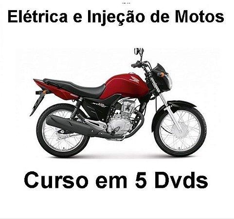 Curso Completo de Elétrica e Injeção Eletrônica de Motos, Kit com 5 Dvds e Frete Grátis.