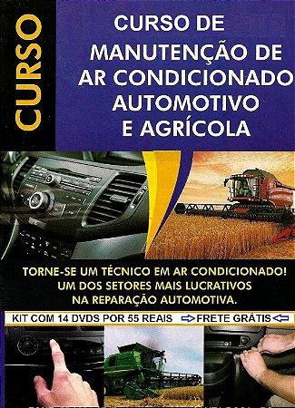 Curso de Ar Condicionado Automotivo Completo, Kit com 14 dvds, Frete Grátis, Oferta Exclusiva.