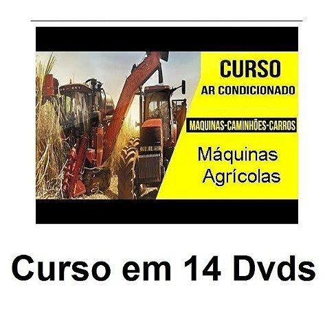 Curso de Ar Condicionado de Tratores e Máquinas Agrícolas e Pesadas, Kit com 14 Dvds e Frete Grátis.