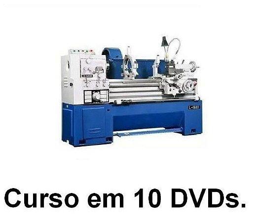 Curso de Torneiro Mecânico, Solda, Corte, Fresa, Ajuste e Desenho, Kit exclusivo com 10 Dvds e Frete Grátis.