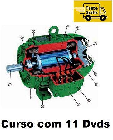 Curso de Enrolar e Rebobinar Motores Elétricos em Geral, Kit Exclusivo com 11 Dvds e Frete Grátis.