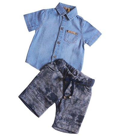 Conjunto Camisa Jeans Opera Kids