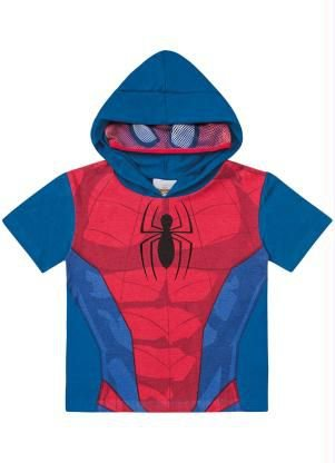 Camiseta Interativa Spider Man Fakini