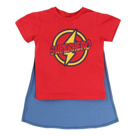 Camiseta Super Hero com Capa Gijo Kids
