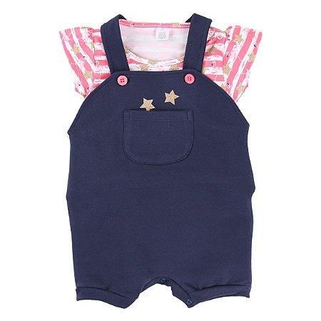Conjunto Jardineira Estrela Baby Gijo