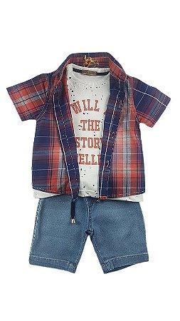 Conjunto Camisa Xadrez Opera Kids