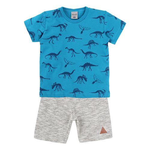 Conjunto Kamylus Dino Azul
